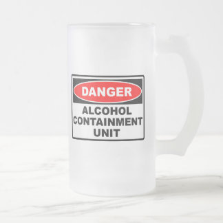 Alcohol Containment Unit Frosted Glass Beer Mug