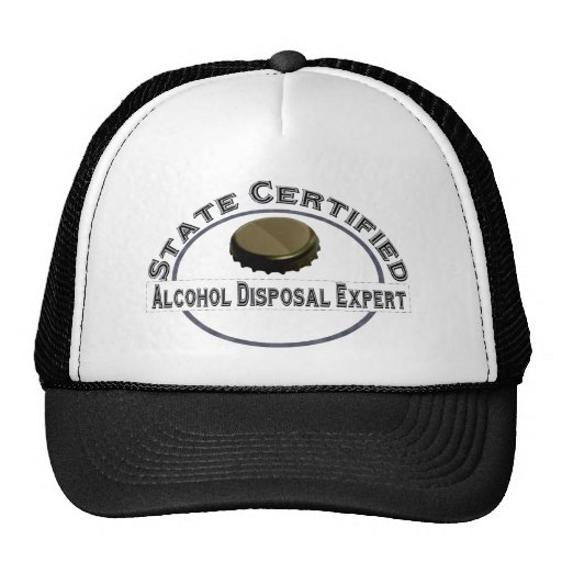Alcohol Disposal Expert Hats
