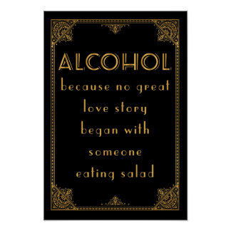 ALCOHOL drinks bar  Gatsby inspired wedding sign