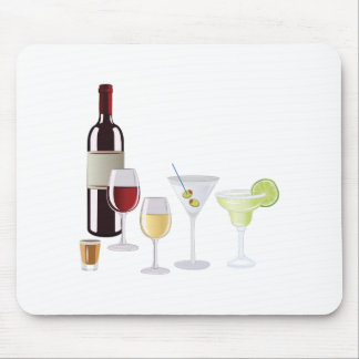 Alcohol Drinks Mouse Pad