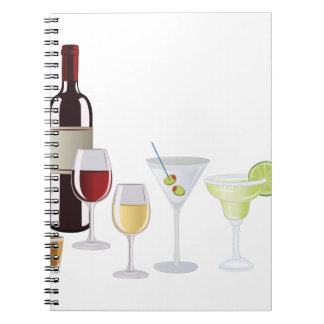 Alcohol Drinks Spiral Notebooks