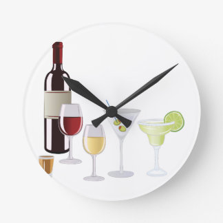 Alcohol Drinks Wall Clocks