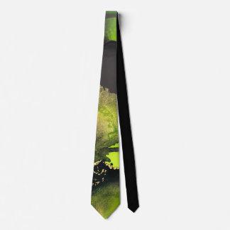 Alcohol Ink Art Inspired Tie~Green Tie