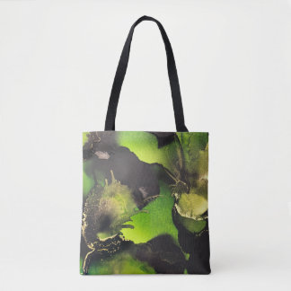 Alcohol Ink Art Tote~Green Tote Bag