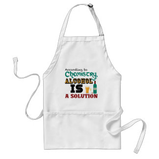 Alcohol is a Solution Aprons