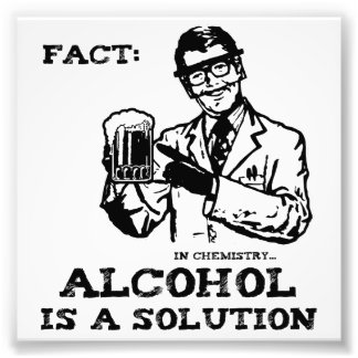 Alcohol is a Solution in Chemistry Photograph