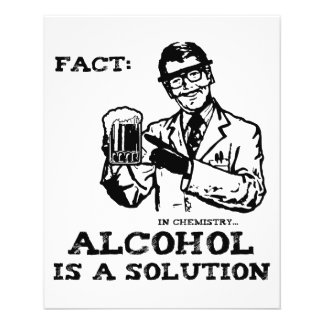 Alcohol is a Solution in Chemistry Retro 11.5 Cm X 14 Cm Flyer