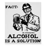 Alcohol is a Solution in Chemistry Retro Posters
