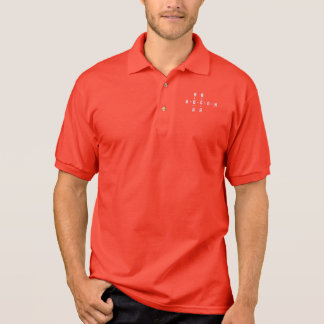 Alcohol Molecule Polo Shirt