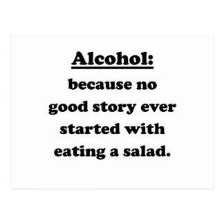 Alcohol Postcard