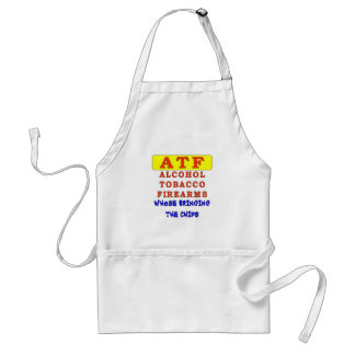 ALCOHOL TOBACCO FIREARMS ADULT APRON