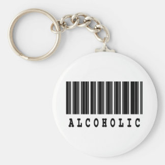 alcoholic barcode design basic round button key ring