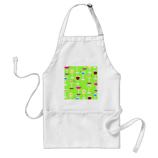 Alcoholic Beverages Cocktail Party Print - Green Standard Apron