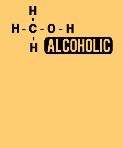 Alcoholic Molecule Tees