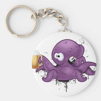 Alcoholic octopus key ring