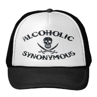 Alcoholic Synonymous Mesh Hats