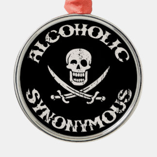 Alcoholic Synonymous Silver-Colored Round Decoration