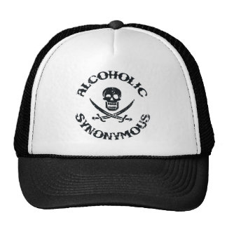 Alcoholic Synonymous Trucker Hats