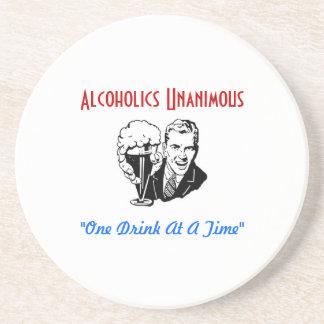 Alcoholics Unanimous Sandstone Coaster Coasters