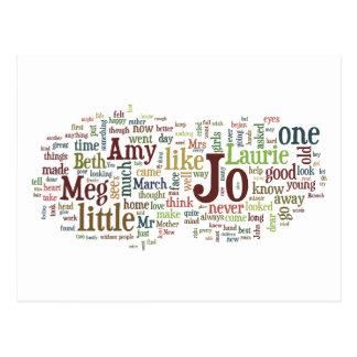 Alcott's Little Women Words postcard