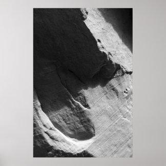 Alcove Sandstone Black and White Photo Poster