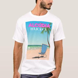 Alcúdia Majorca beach travel poster T-Shirt