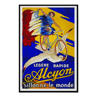 Alcyon Cycles - French Vintage Bicycle Art Poster
