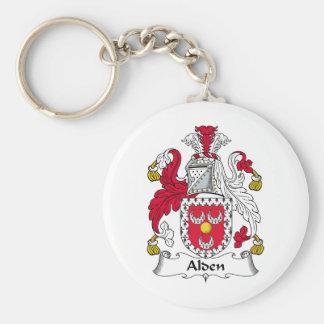 Alden Family Crest Basic Round Button Key Ring