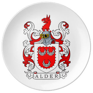 Alder Coat of Arms Porcelain Plates