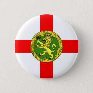 Alderney flag Guernsey symbol british 6 Cm Round Badge
