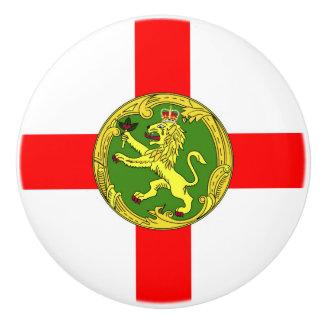 Alderney flag Guernsey symbol british Ceramic Knob