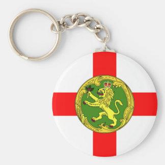 Alderney flag Guernsey symbol british Key Ring