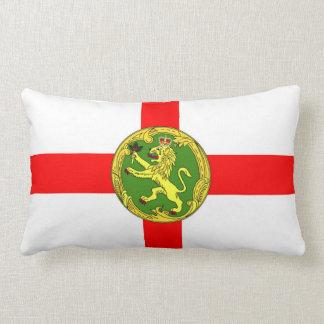 Alderney flag Guernsey symbol british Lumbar Cushion