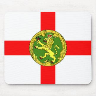 Alderney flag Guernsey symbol british Mouse Pad