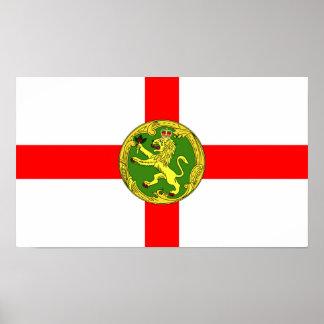 Alderney flag Guernsey symbol british Poster