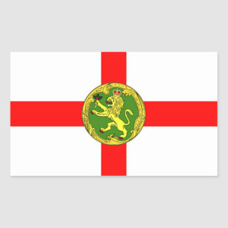 Alderney flag Guernsey symbol british Rectangular Sticker