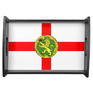 Alderney flag Guernsey symbol british Serving Tray