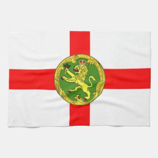 Alderney flag Guernsey symbol british Tea Towel