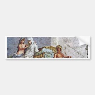 Aldobrandini Wedding Details: Bride Aphrodite And Car Bumper Sticker