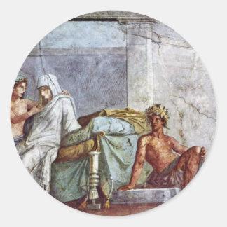 Aldobrandini Wedding Details Bride Aphrodite And Round Stickers