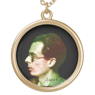 Aldous Huxley Gold Plated Necklace