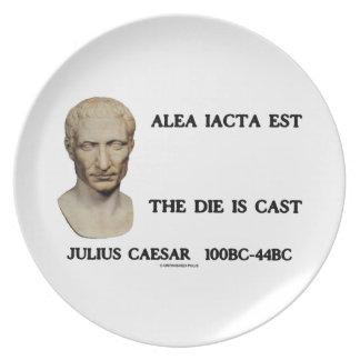 Alea Iacta Est The Die Is Cast Caesar Plate