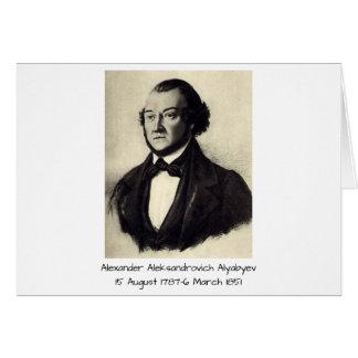 Aleksandr Aleksandrovich Alyabyev Card