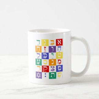 Aleph-Bet (Hebrew Alphabet) - Rainbow Coffee Mug