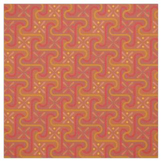 Aleppo Red and Orange Fabric