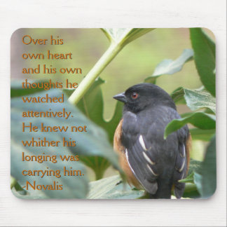 Alert Eastern Towhee Mouse Pad