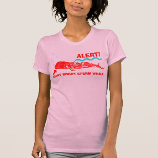 ALERT! Giant Robot Sperm Whale T-Shirt
