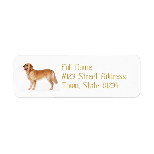 Alert Golden Retriever Mailing Label
