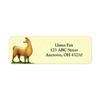 Alert Llama Customizable Label