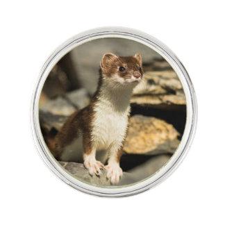 Alert Weasel Lapel Pin